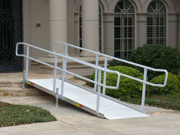 Modular wheelchair ramps for Prefab wheelchair ramp
