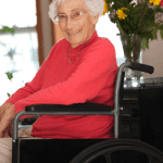 Happy Woman in a Wheelchair
